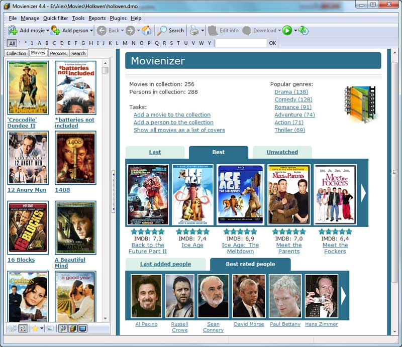 Click to view Movienizer 6.2 screenshot