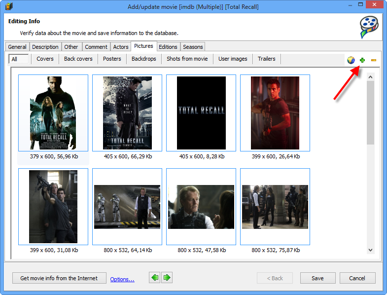 how to add multiple pictures to movie maker