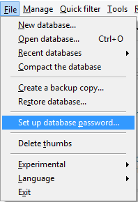 Set database password