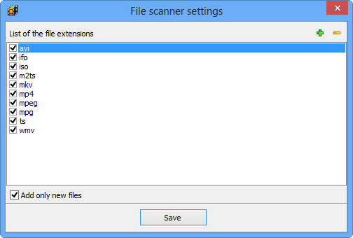 File scanner settings
