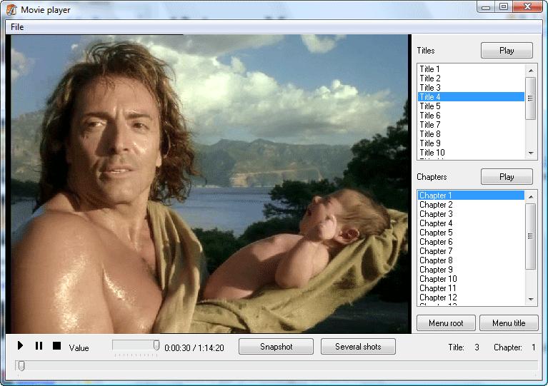 Movienizer - Built-in Player.