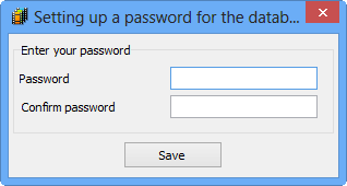 Protect your database with a password