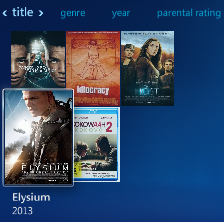 Movie covers in Windows Media Center